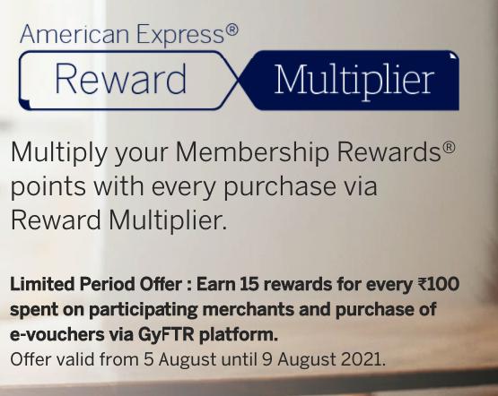 AMEX Rewards Multiplier 15 points