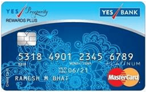 YES Prosperity Rewards plus Credit Card