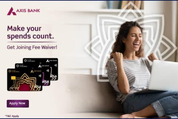 Axis Bank Vistara Credit Cards Joining Fee Waiver