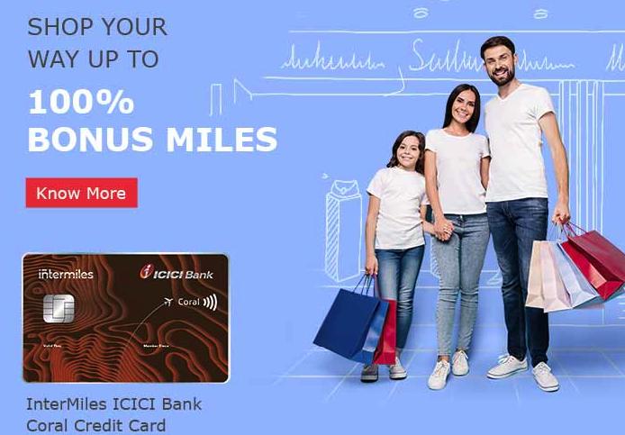 ICICI Intermiles Credit Cards Bonus Miles Offer