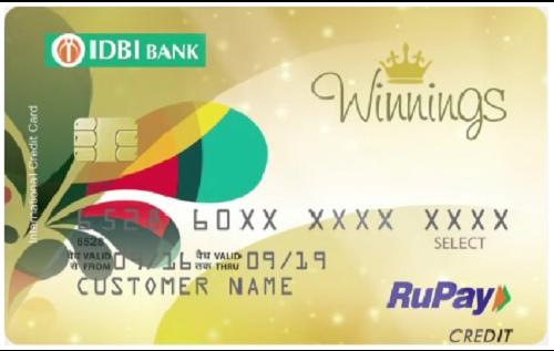 IDBI Bank Winnings RuPay Select Credit Card