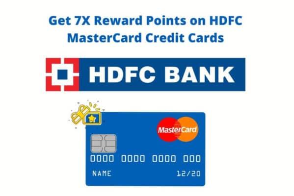7x reward points HDFC mastercard offer