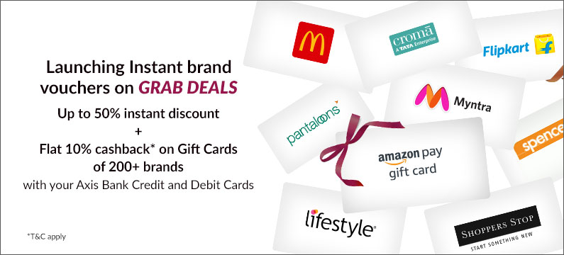 cashback discounts on instant vouchers axis credit card