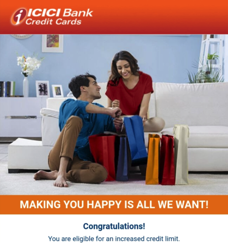 ICICI Amazon Pay Credit Limit Increase