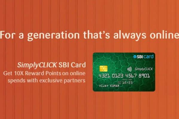 SBI SimplyCLICK Credit Card 10x reward points amazon offer