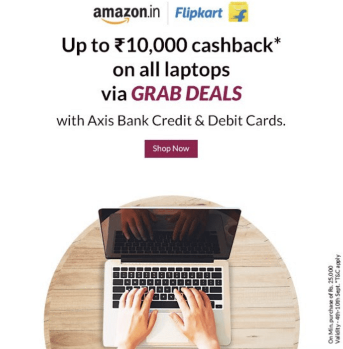 Axis Bank Laptop Offer