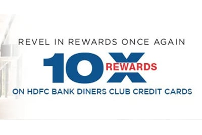 Get 10X Reward Points On Your HDFC Diners Club Credit Cards - September 2021