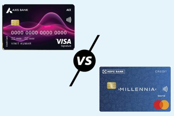 Axis Bank Ace Credit Card vs HDFC Millennia Credit Card