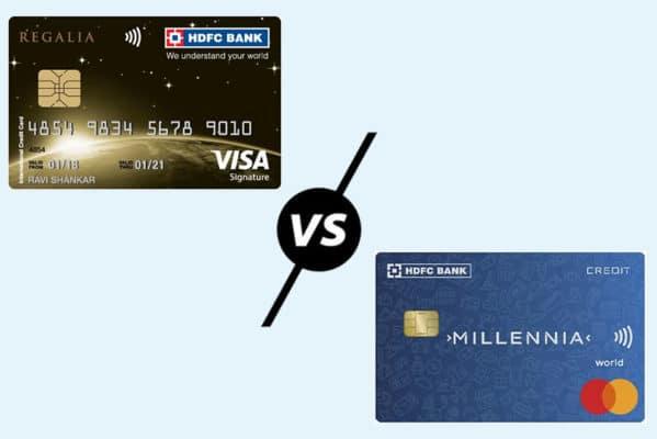 HDFC Regalia Credit Card vs HDFC Millennia Credit Card