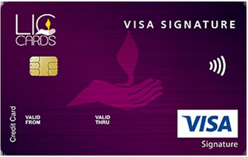 LIC VISA Signature Credit Card