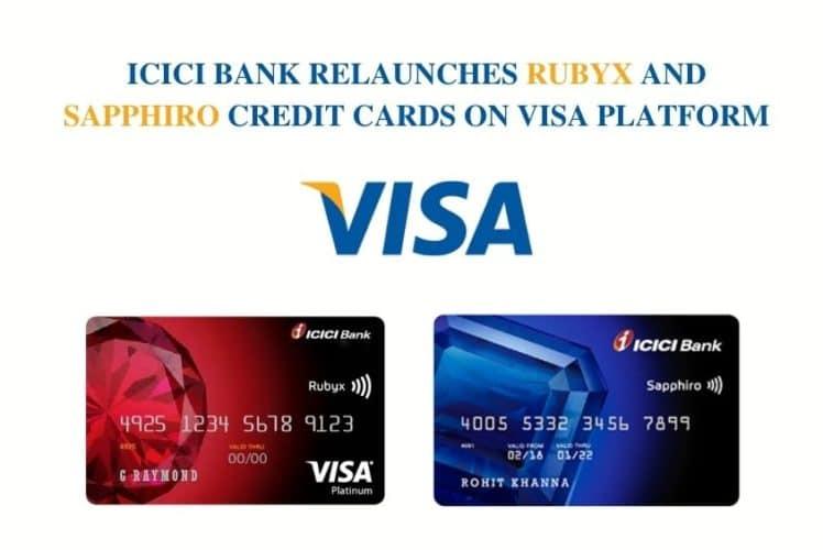 ICICI Bank Rubyx Sapphiro Visa Card